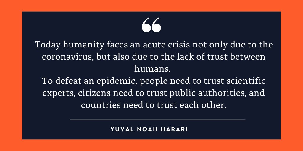 To read Yuval's full article on global leadership during the coronavirus epidemic, published last week in @TIME magazine, visit: http://bit.ly/YNHTime   -YNH Team
