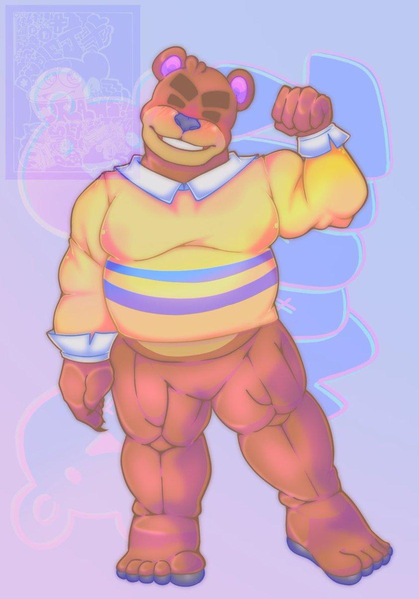 Okay my turn to draw animal crossing and it's my man Teddy #animalcrossing #bara #bear pic.twitter.com/gGzooRTxzN