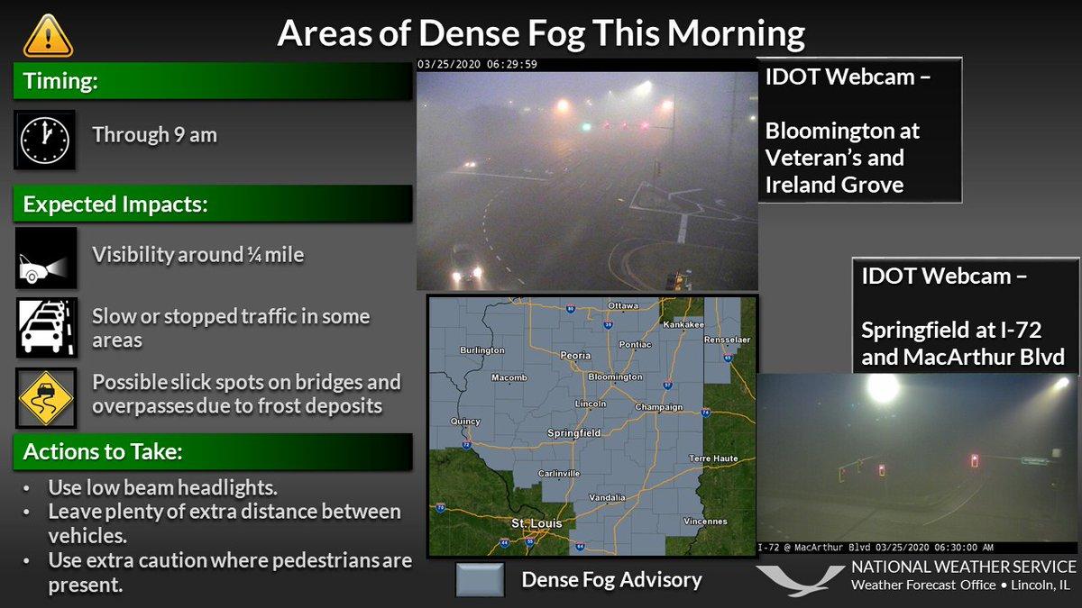 @NWSLincolnIL's photo on Dense Fog Advisory