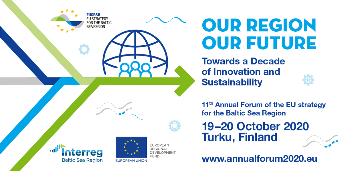 New date for this year's Annual Forum of the EU Strategy for the #BalticSeaRegion! #EUSBSR #MadeWithInterreg #Interreg30