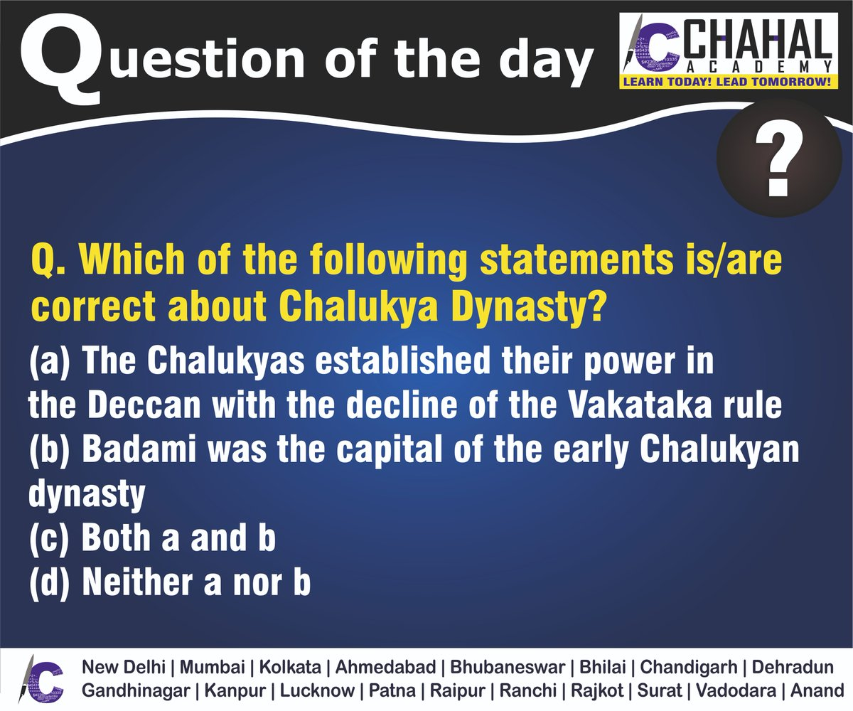 Question of the Day  Answer - C  #25thMarch2020 #Questionoftheday #UPSC2020 #IPS #IBPS #governmentexam #Currentaffairs #iasquestion #UPSCQuestion2020 #dailyquiz #coachinginstitute #iascoachingcenter #IASquestions #civilserviceexam  Visit:- http://chahalacademy.compic.twitter.com/GVFsSmpNmk