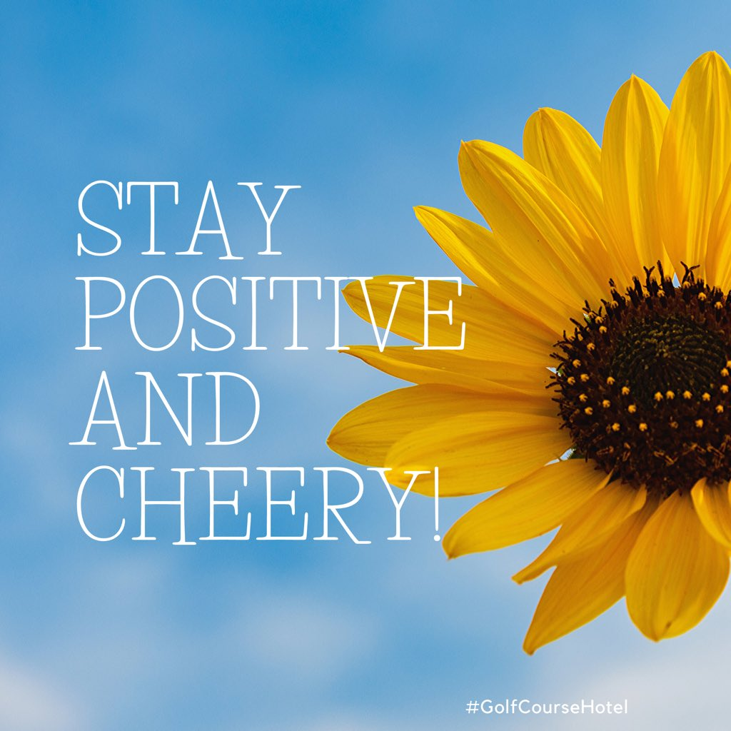 In this period of social distancing and taking up utmost preventative measures, we urge you not get lost in the noise. Stay positive & cherry! We are with you. ❤️  #staysafe #stayhealthy #covid_19 #positiveattitude #golfcoursehotel https://t.co/2iLrKp4Rgb