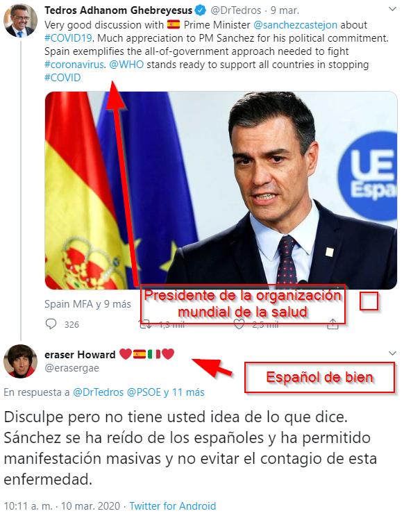 España en dos tweets