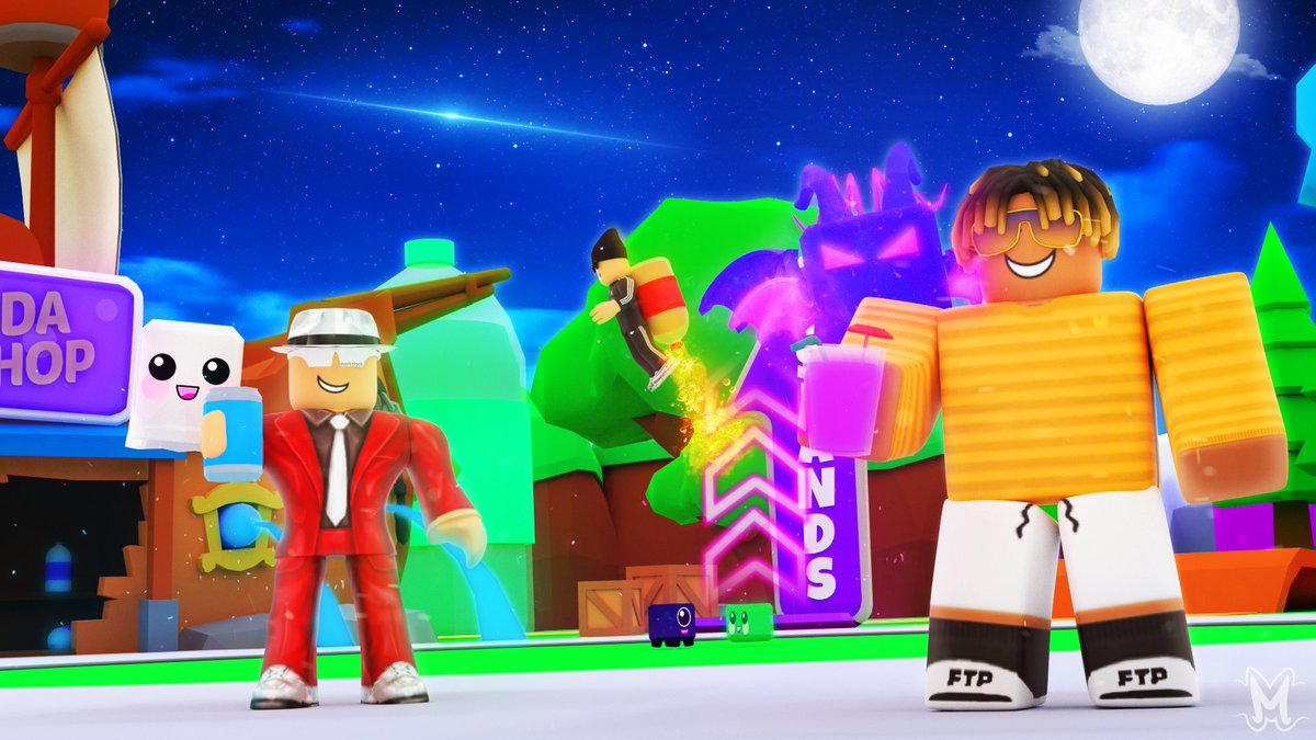 Modedeveloper On Twitter New Thumbnail Commission For Soda Simulator Likes And Rts Are Appreciated Roblox Robloxdev Robloxgfx