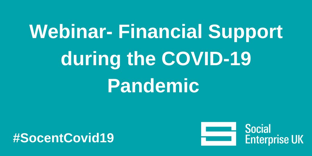 Our next webinar will take today from 12 -1pm and will be on financial support during the pandemic. We're delighted that Ian Workman, Managing Director and Head SME at Barclays will be delivering the webinar. It's free to sign up >> http://ow.ly/gXqW50yUEwX   #SocentCovid19 #socent
