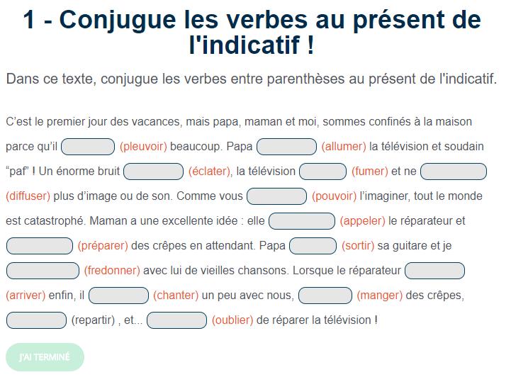 Ortholud Com على تويتر Exercice De Conjugaison Le Present De L Indicatif Nouvelle Serie De 5 Textes A Conjuguer Au Present De L Indicatif Https T Co 8qcfeytpja Https T Co Wgtt5wf2ej