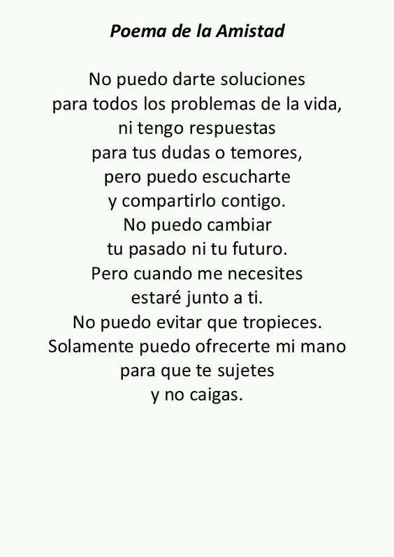 Efraín Barrera A On Twitter Poema De La Amistad
