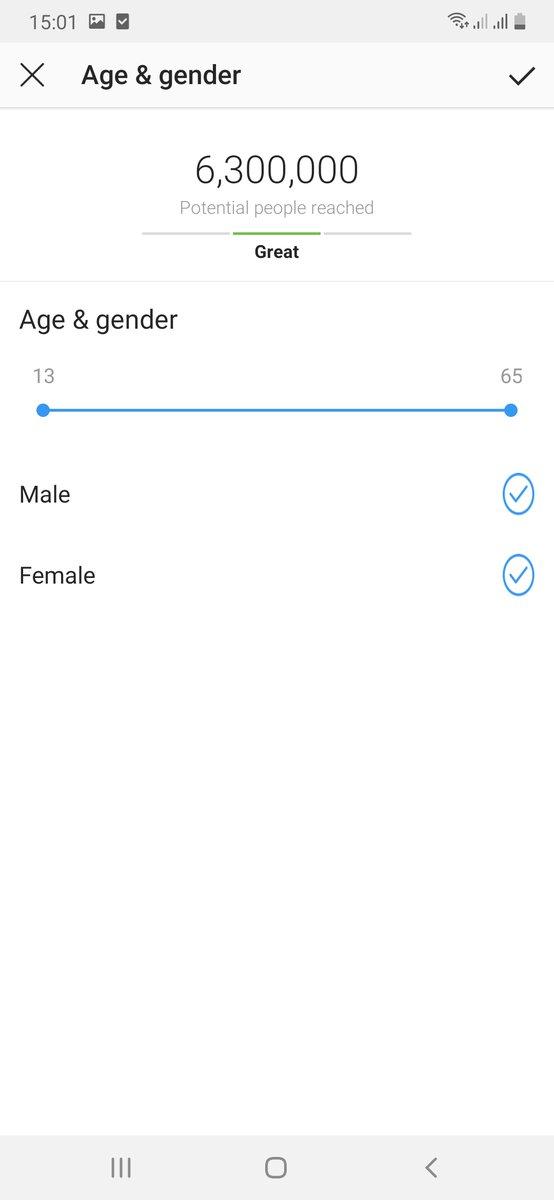 INstagram age bracket