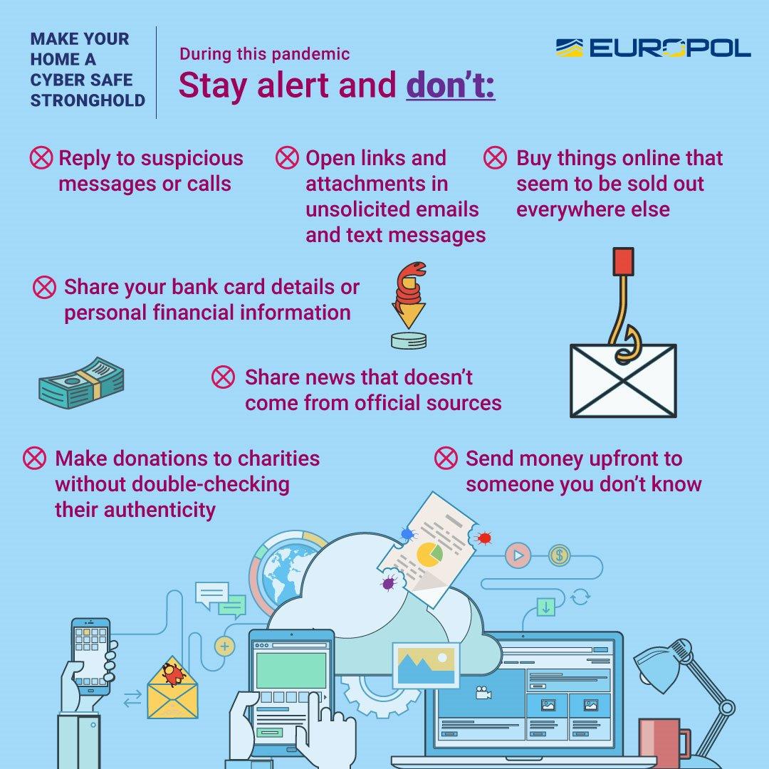 Se disse rigtig gode råd fra @Europol og pas på dig selv, dine penge og din sundhed #politidk #covid19dk https://t.co/ssVUD5Gc28