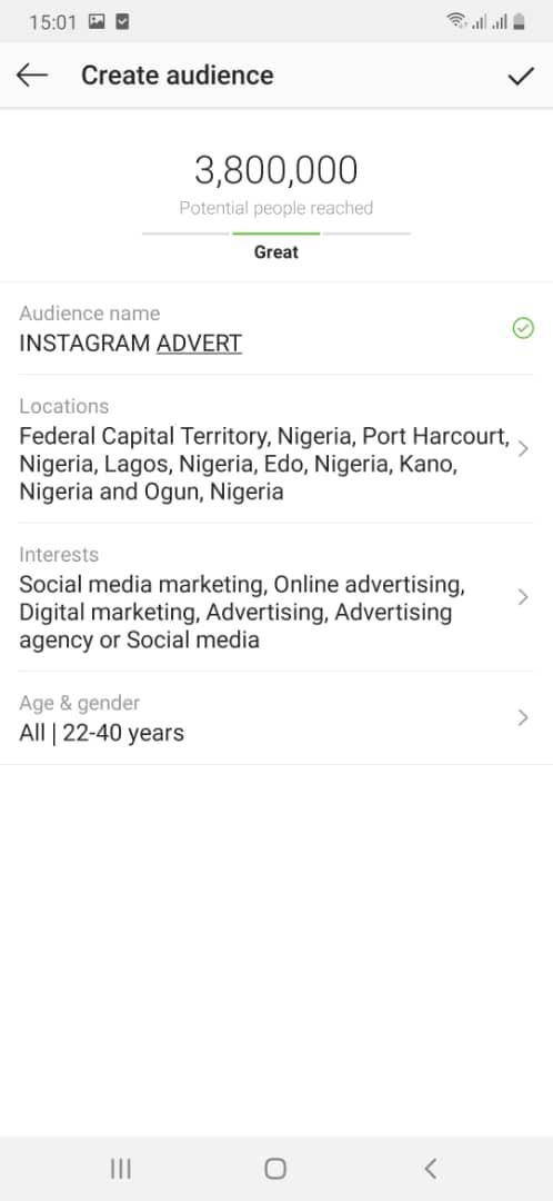 Instagram create audience