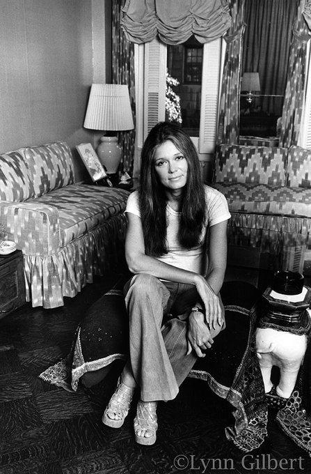 Happy birthday, Gloria Steinem.  Photo 1: Lynn Gilbert Photo 2: Caitlin Ochs for The New York Times
