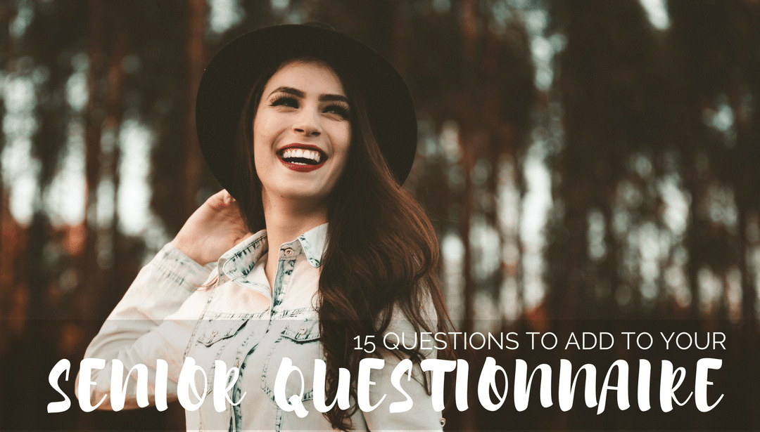 Another #GetToWork idea - revisit your #seniorphotography questionnaire. Here are 15 must-ask questions for your seniors.  https://soo.nr/W8hO pic.twitter.com/6FE8GwNudD