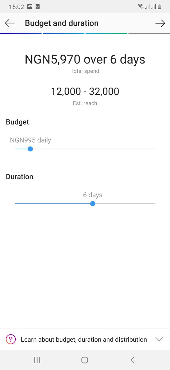 instagram budget and duration