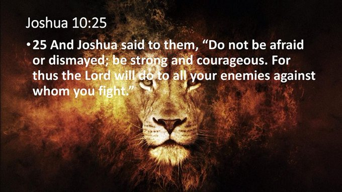 """Word of Truth on Twitter: """"And Joshua said to them, """"Do not be ..."""