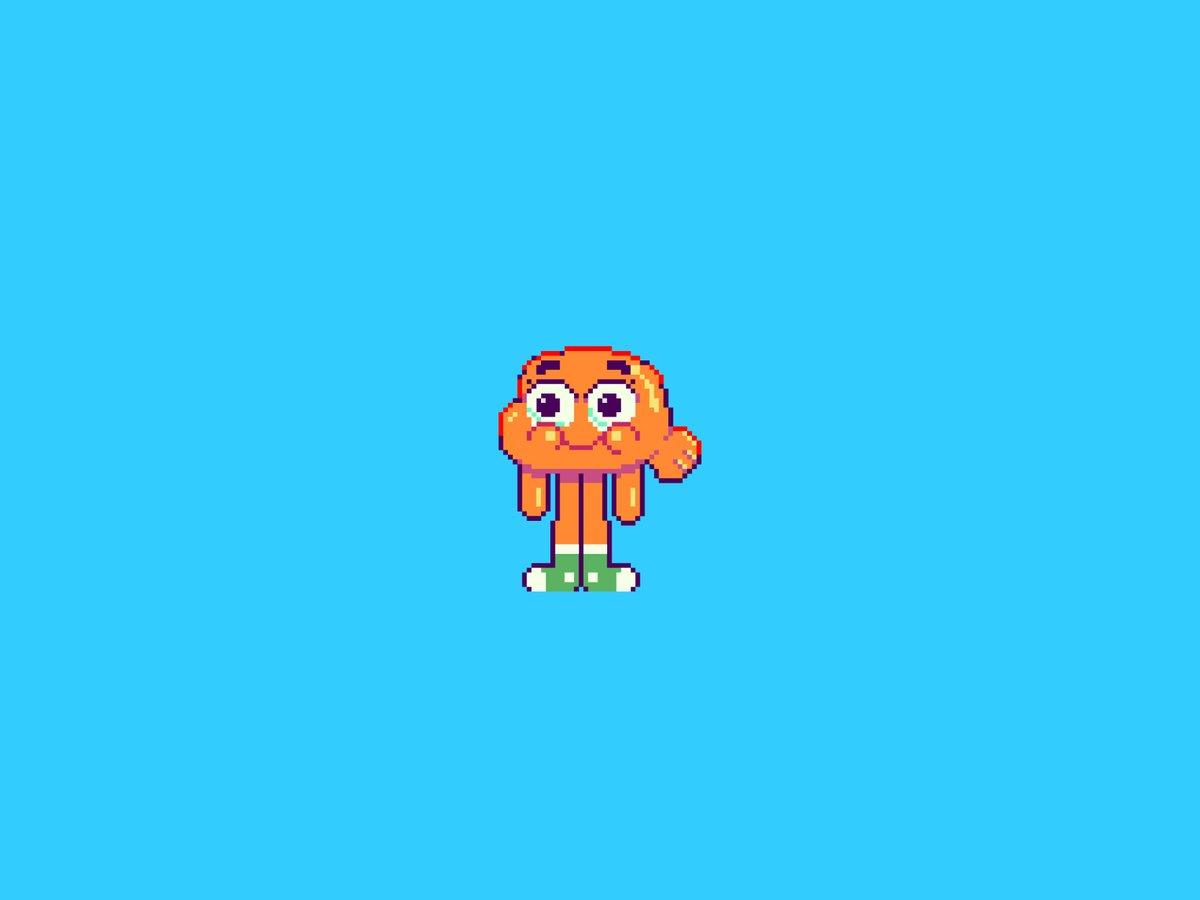 #darwin form the amazing world of #gumball #pixel #pixelart #gamedev #pixel_dailies   Video process here: ➡️➡️➡️