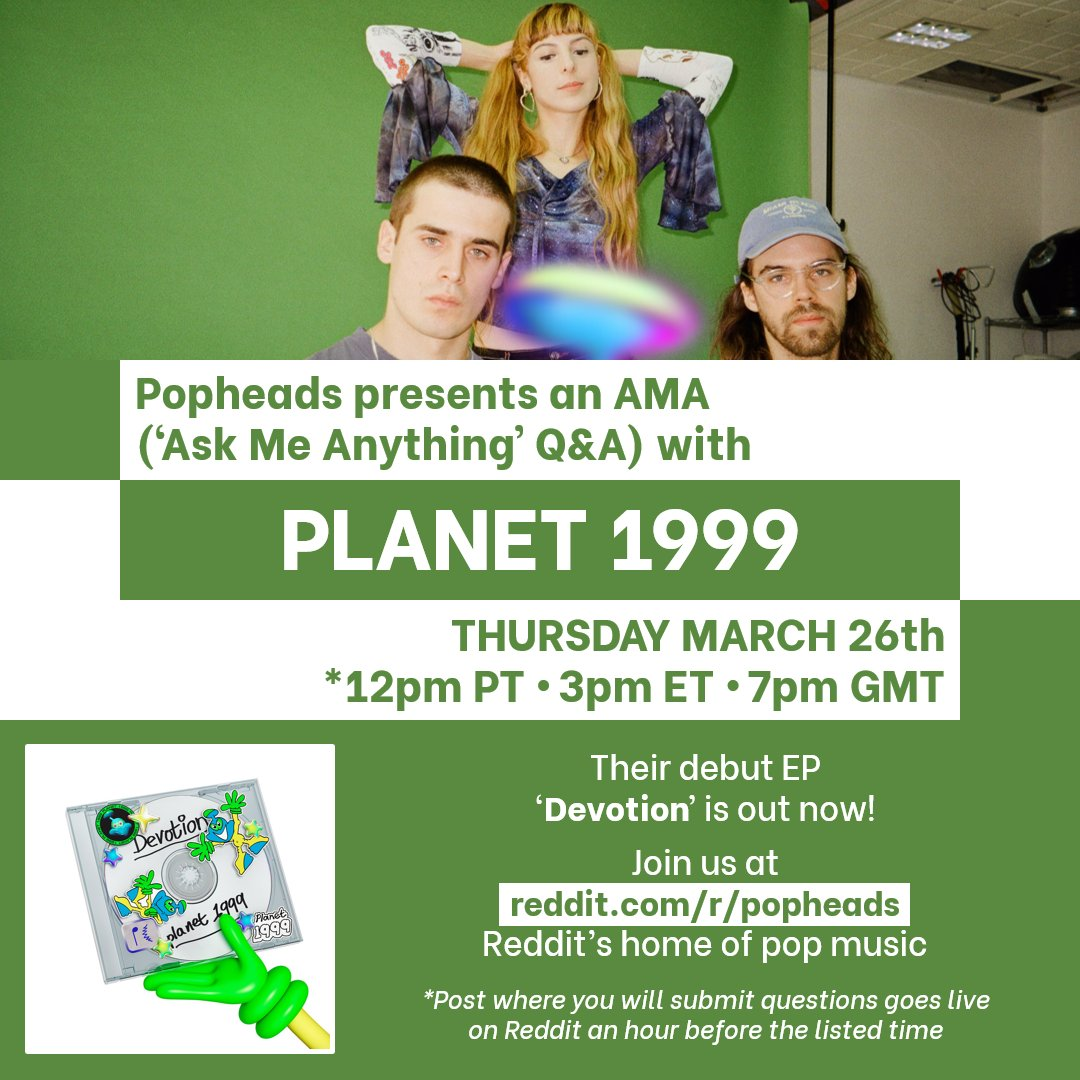 .@plnt99 will be joining us for an AMA at reddit.com/r/popheads tomorrow! They recently released their debut EP Devotion on PC Music!