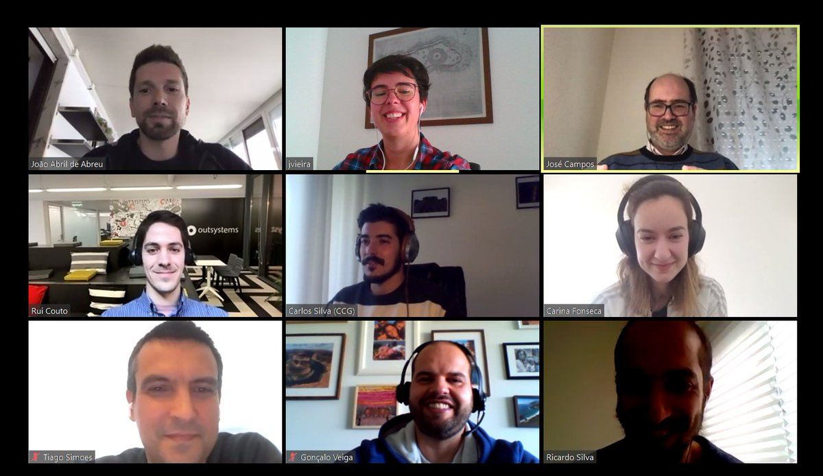 Final meeting of the OutSysCognition II project. With CCG, OutSystems, HASLab and INESC TEC. https://t.co/VYdkqTNnaE  #OutSysCognitionII #CCG #PIU #OutSystems #HASLab #INESCTEC #usabilidade #ModelosCognitivos #Computação #Telemetria https://t.co/uztVDPh2iH