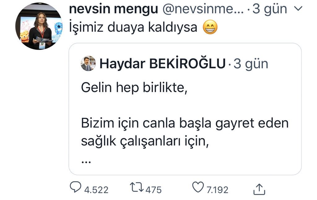 "Cemile Taşdemir on Twitter: ""@nevsinmengu Papa seni de duaya davet ..."