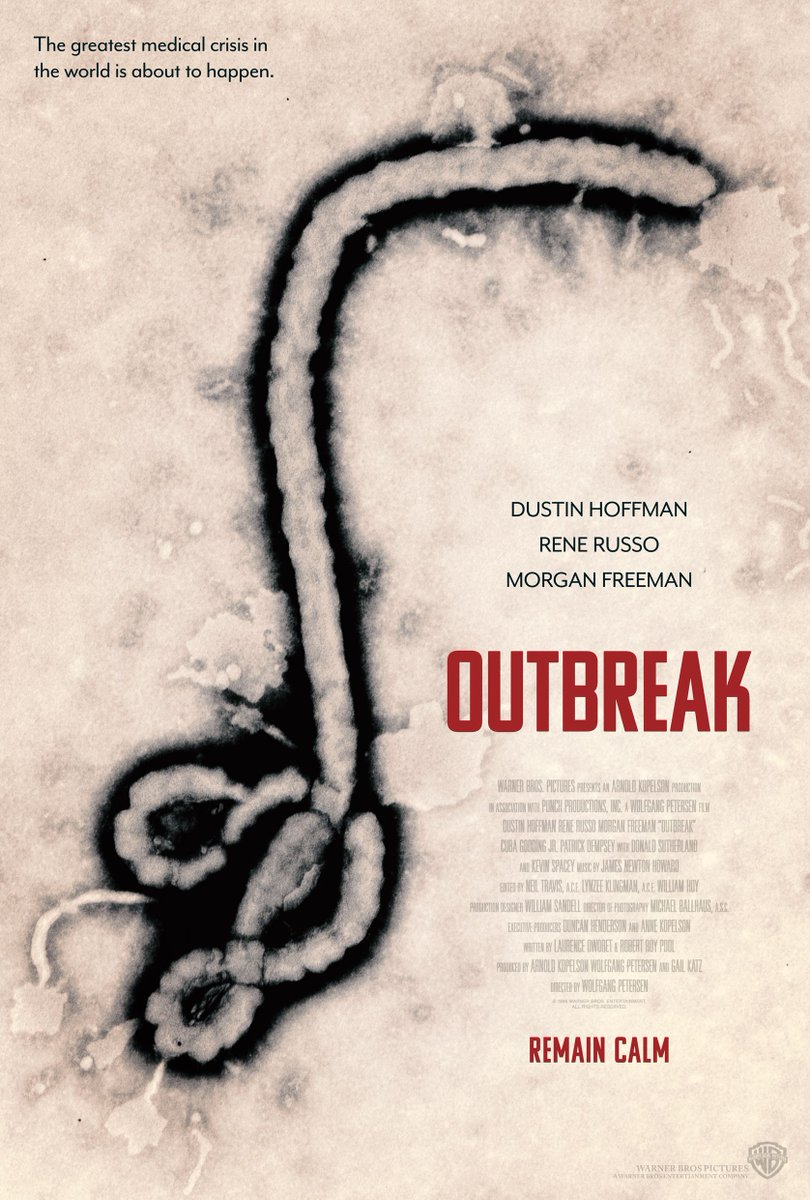 Mark On Twitter Outbreak 1995 Plot Speculates How Far Military Civilian Agencies Might Go To Contain The Spread Of Deadly Contagious Disease A Real Life Outbreak Of Ebola Virus Was Occurring In