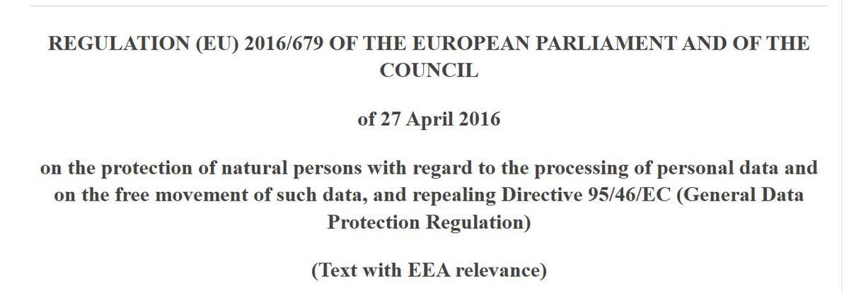 ✅Answer –The General Data Protection Regulation 2016/679