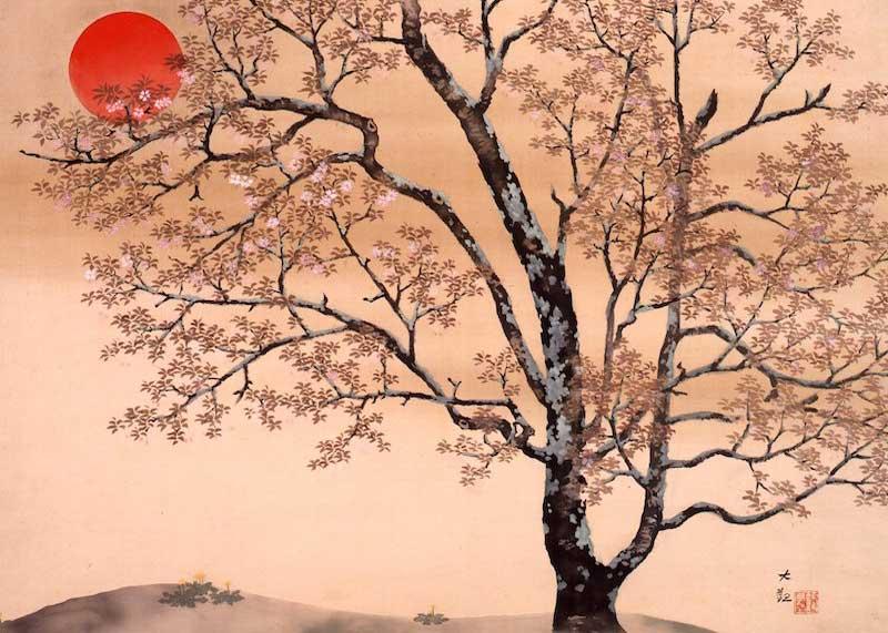 Do you bloom Just to teach the world, Cherry blossoms ?  Den Sutejo | Taikan Yokoyama #haiku #Japan pic.twitter.com/XA7kDnkbZ4