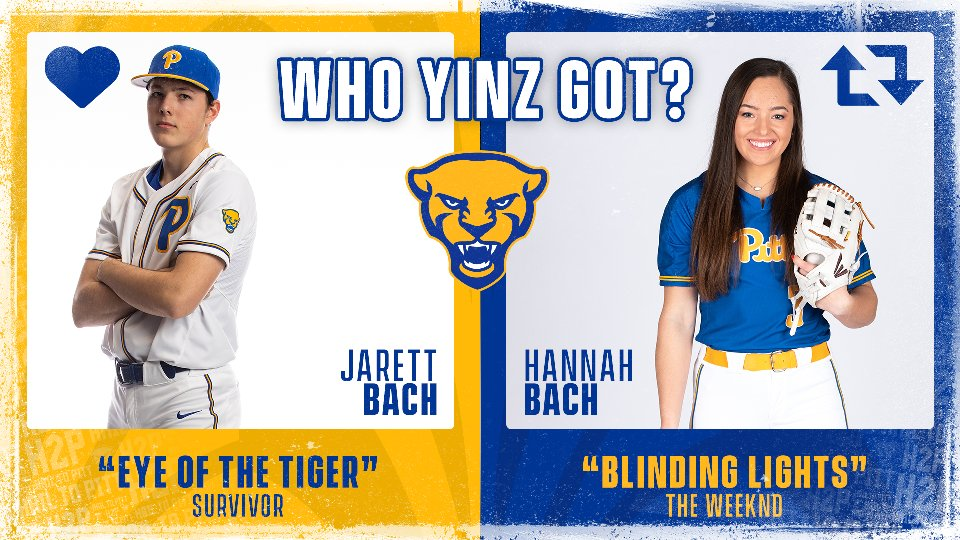 """To start 𝗪𝗵𝗼 𝗬𝗶𝗻𝘇 𝗚𝗼𝘁 🎶, it's a play-in game with siblings @jarett_bach & @hannahbach3.  J. Bach: Survivor """"Eye of the Tiger"""" http://bit.ly/3bueVeP  H. Bach: @theweeknd """"Blinding Lights"""" http://bit.ly/3ajnhG3  Like for Jarett, retweet for Hannah  #H2P 