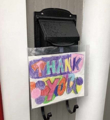 Another amazing JES artist shows kindness to our essential workers! #KindnessRocksJamestown #WeCanAndWeWill @APSartsalive @JamestownAPSpic.twitter.com/EElnb7utNs