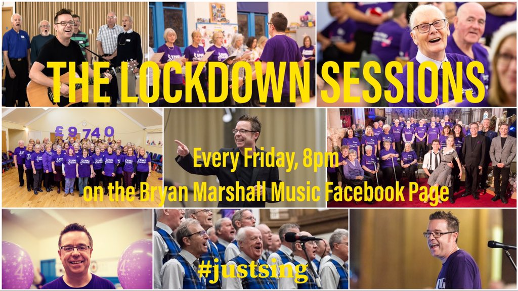 Friday, 8pm FB page: I want to connect to all my groups during these difficult times. Please spread the word to anyone you know who may benefit from joining us for a wee sing and a smile  @Beatson_Charity @alzscot @MNDScotland @prostatescot @CarersLinkED