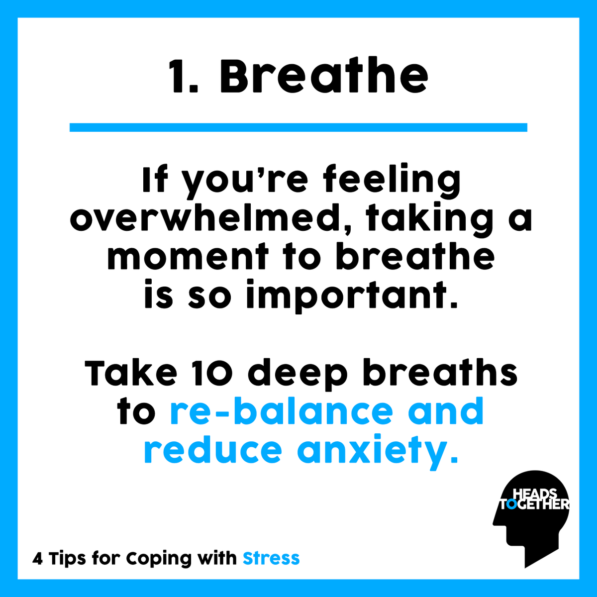 For many of us, our lives have been turned upside down in recent weeks, which can cause feelings of increased anxiety, worry, and stress. Here are our top tips to help manage your stress levels. #HeadsTogether
