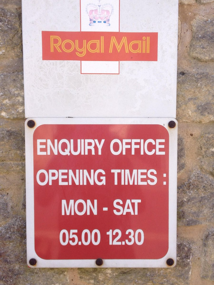 @BigSi37 @RoyalMail The actual post office stays open till 5pm obviously. Im talking about the enquiry office. So youre saying the person I talked to lied to me then?