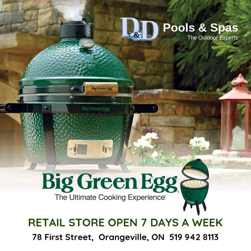 Big Green Egg – The Ultimate Cooking Experience! Available at #DDPools  #BigGreenEgg  #Spa #Pool #PoolSeason #BBQ #Orangeville #DufferinCounty #Shelburne #Caledon #FreeQuote pic.twitter.com/YJcbVcdzEp