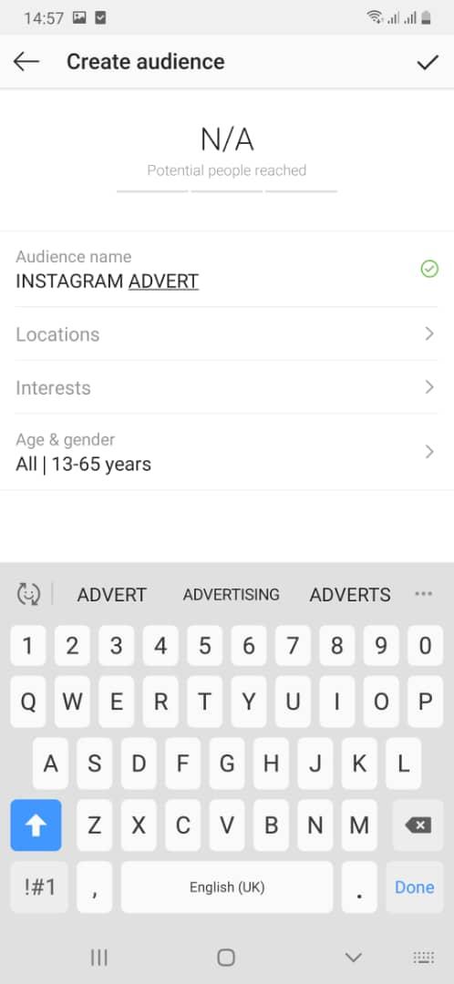 Instagram audience
