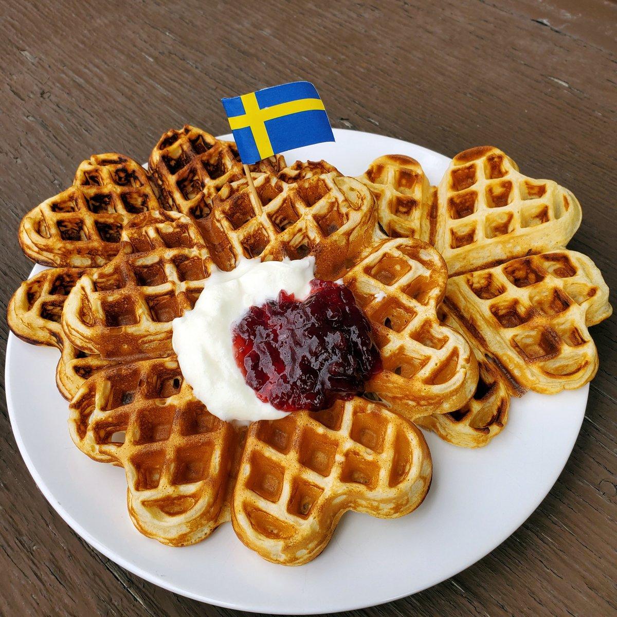 "FIKA on Twitter: ""It's #Våffeldagen (Swedish Waffle Day), so we're making lots of #waffles from home today!… """