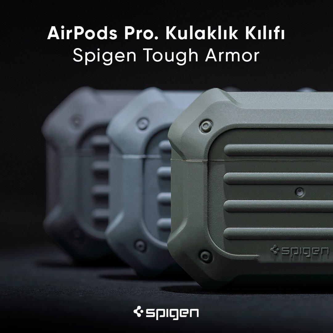 AirPods Pro ilk günkü gibi sapasağlam kalıyor. Korumayan kalmasın. #Spigen   AirPods Pro. Kulaklık Kılıfı, Spigen Tough Armor ► http://bit.ly/2u52iXI  #spigenturkey #spigentürkiye #apple #airpods #appleairpods #appleaccessories #airpodspro #applemusic #music #case #kılıfpic.twitter.com/K02RhhFny0