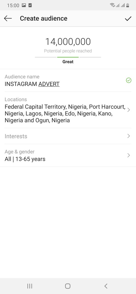 Instagram ad audience