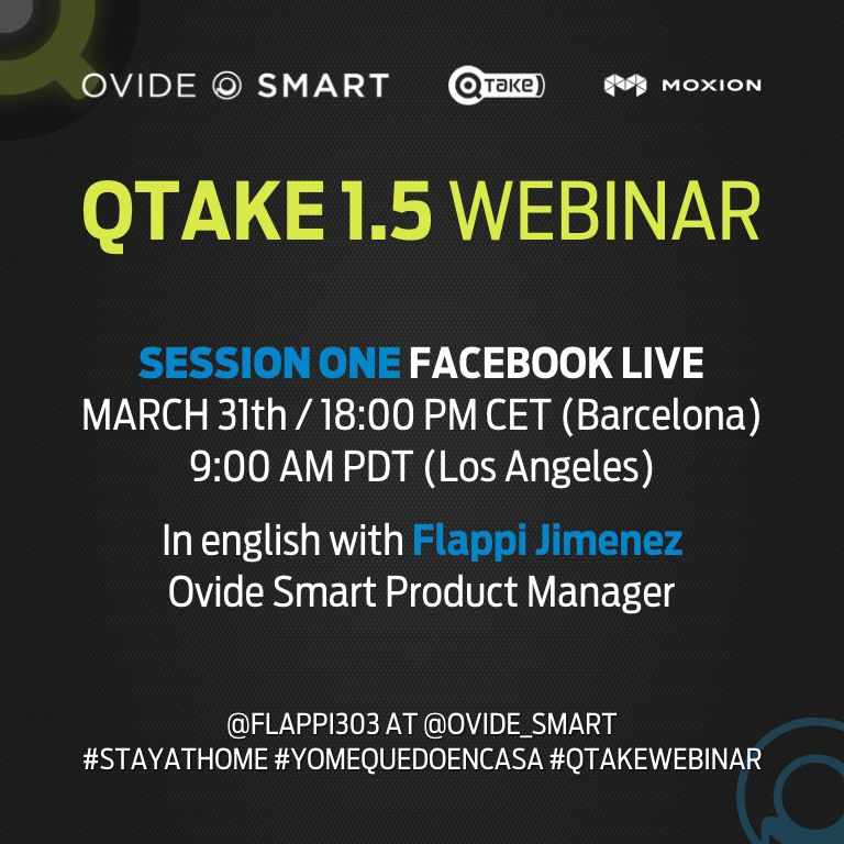 """Ovide Smart on Twitter: """"Join us on our first webinar with our Product  Manager @flappi303! We'll go live on @OvideSmart Facebook page to talk  about @QTAKEHD 1.5 & @moxion_io Let us know"""