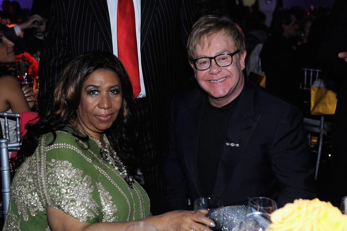Happy Birthday to the legends Aretha Franklin  and Elton John