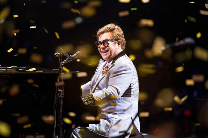 Happy Birthday to sir Elton John! Artysta ko czy dzi 73 lata!  (fot. Ben Gibson)
