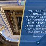 Image for the Tweet beginning: To help fight #Coronavirus, @FreemasonsHall