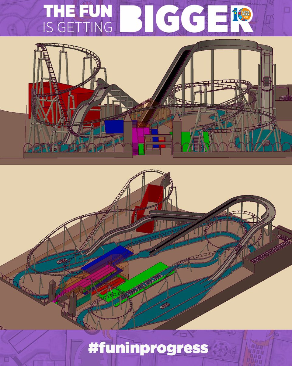 This new flume ride is going to splash your temperature down during those hot summer days in Coney Island!   The fun is in progress here at #LunaParkNYC 🎢  #FunInProgress | Powered by @zamperlarides   #Expansion2020 #LunaParkNYC https://t.co/XUBVxjm5GT