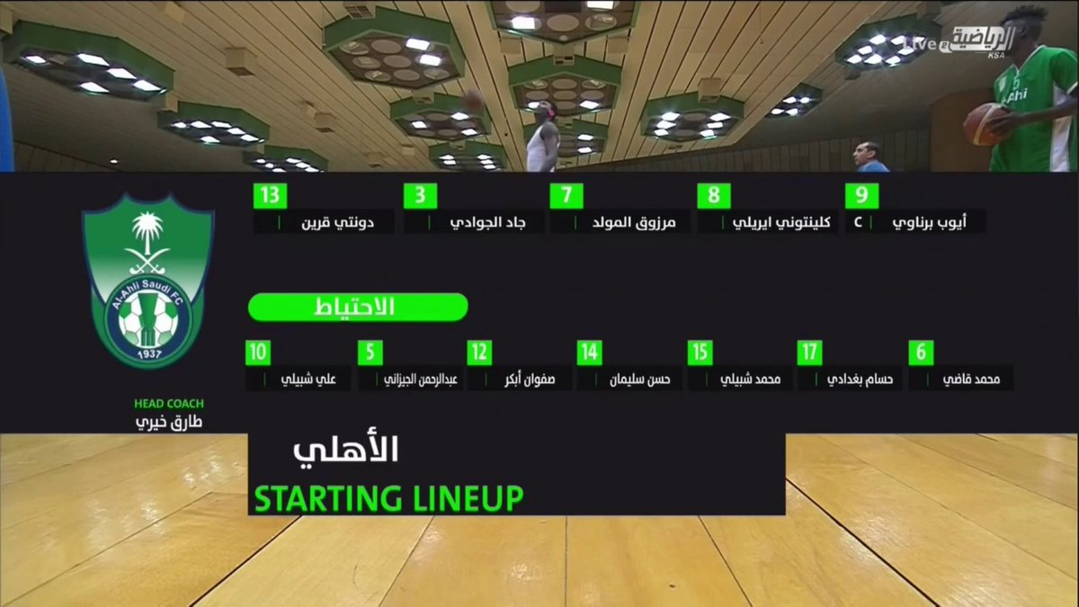 📸 | تشكيلة فريق #الاهلي | 🏀  @ALAHLI_FC   🏆 #نهائي_دوري_السلة 🏆 https://t.co/3Lx2MtXsne