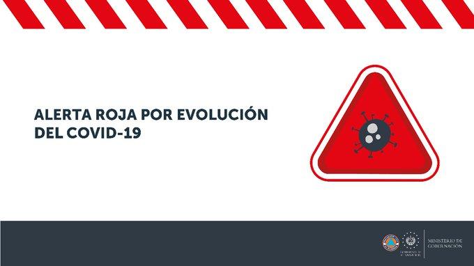 Protección Civil declara alerta roja por evolución del coronavirus