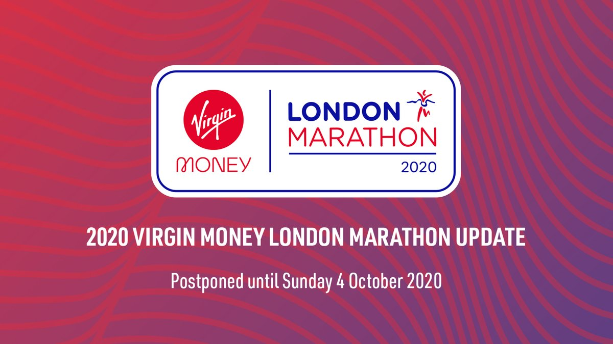 Image result for london marathon postponed twitter