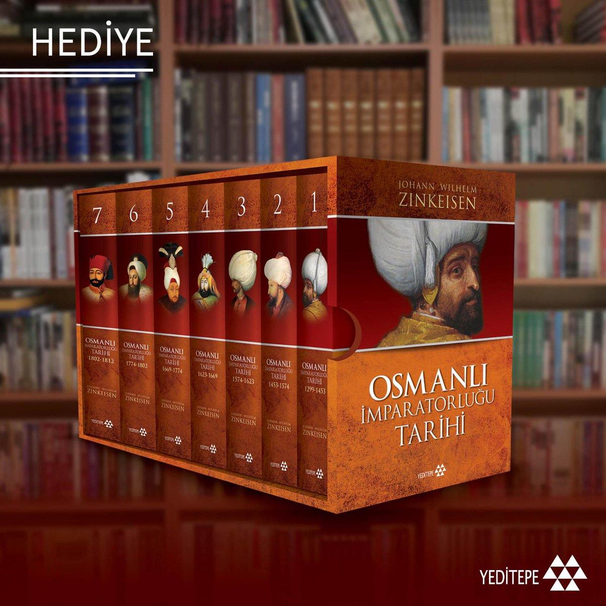 """ÇEKİLİŞ  Bu tweeti RT edip hesabımızı ve @yeditepekitap'ın YouTube kanalını takip eden bir kişiye Zinkeisen'in """"Osmanlı İmparatorluğu Tarihi 1299-1812"""" kitabını hediye ediyoruz.   (Kanala abone olduğunuza dair ekran görüntüsü atmanız yeterli.)  Link: https://t.co/85yzdT1mX3 https://t.co/DJgQWVjpgH"""