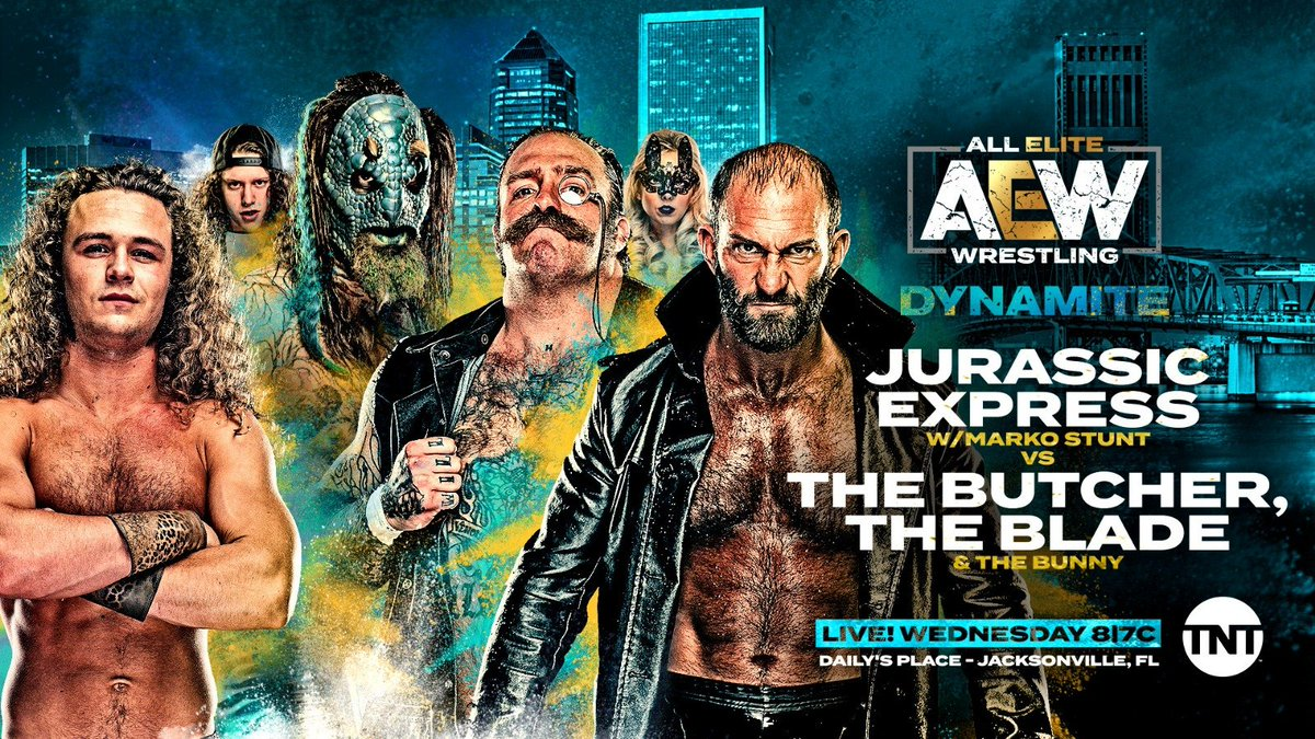 Jurassic Express Vs. The Butcher & The Blade Added To Next Week's AEW Dynamite