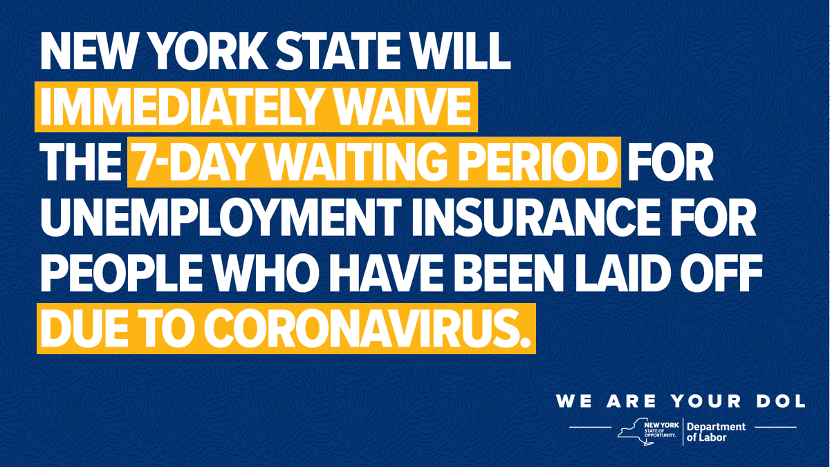 Nys Department Of Labor On Twitter Icymi Nygovcuomo Has Waived