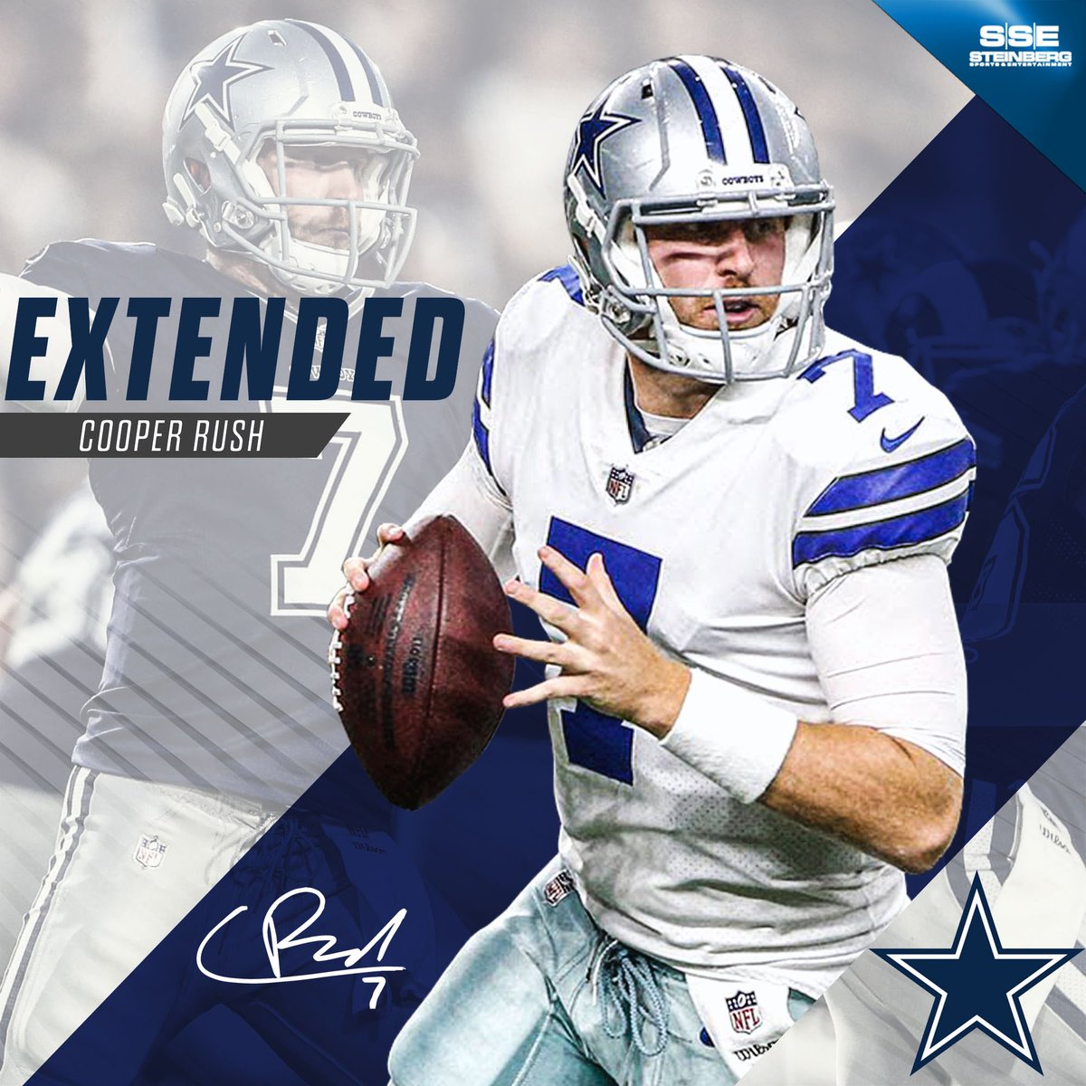 Congratulations to @rush_cooper for signing a contract extension with the Dallas Cowboys! We're so proud of you Cooper, hard work pays off!  #DallasCowboys #CowboysNation https://t.co/ucOAwd00Xu