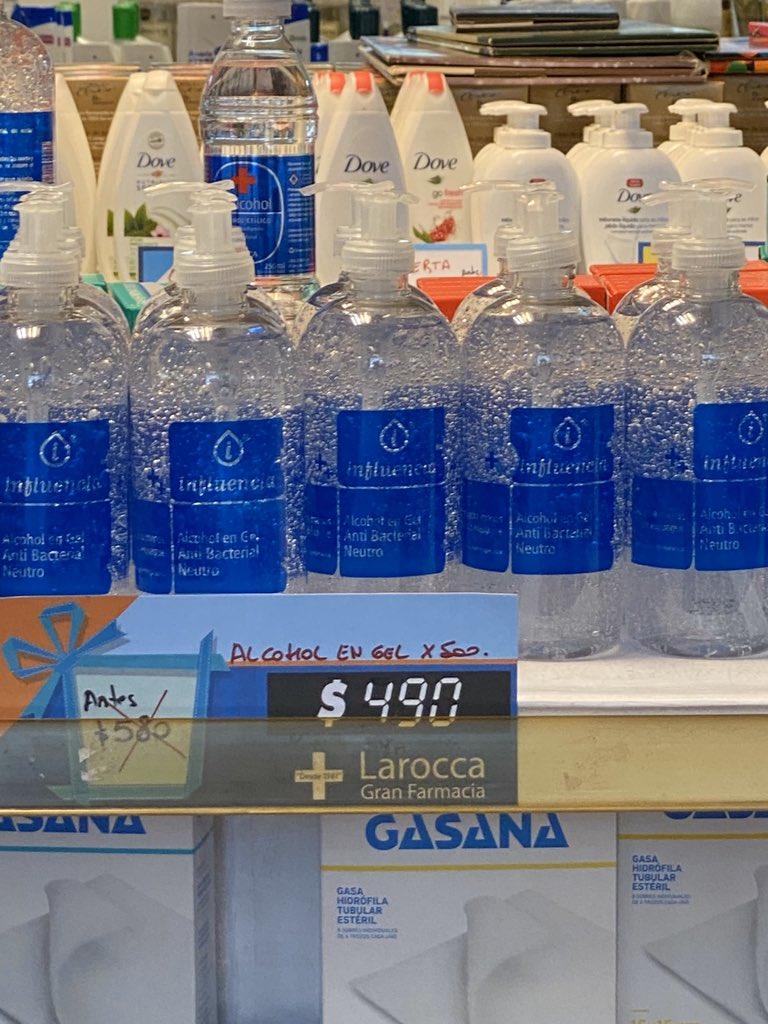 Resultado de imagen para alcohol en gel caro