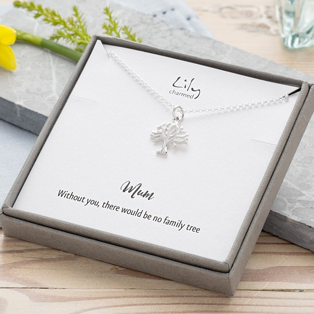 'Without you there would be no family tree....' Mothers day gifts with your own message from the heart. Use code BESTMUM for 15% until the 16th https://lilycharmed.com/collections/mother-s-day-gifts… #mothersdaynecklace #mum #personalisedjewellery #recycledsilver pic.twitter.com/l8VLC6iPxy