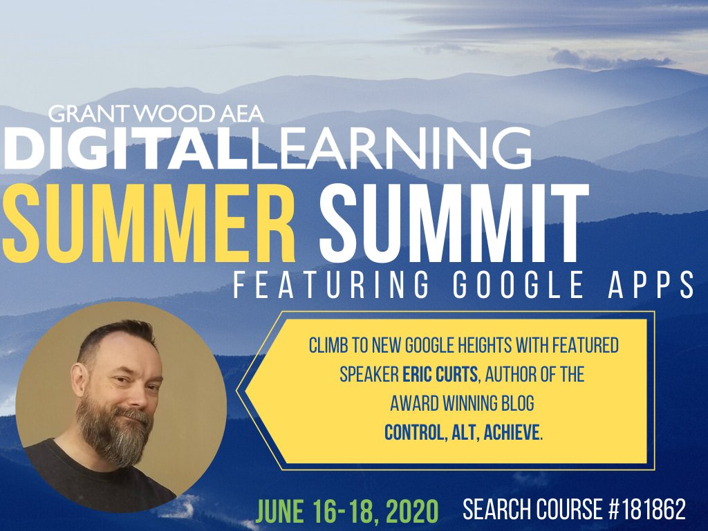 Dont leave for spring break without making your summer learning plans! We are so excited to host @ericcurts, author of Control, ALT, Achieve at our DLGWAEA Summer Summit! Space is limited, so register TODAY! Learn more at buff.ly/38zLwhv! #GWAEA #IAEdChat #edtech